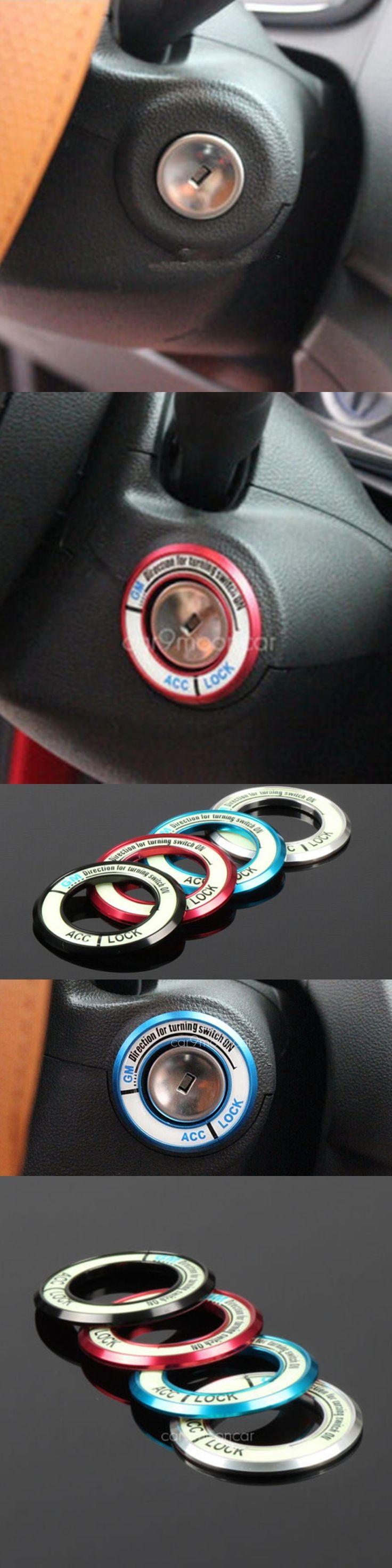BBQ@FUKA Luminous Ignition Key Ring Switch Cover Sticker Fit For Chevrolet Opel Mokka Zarifa ect