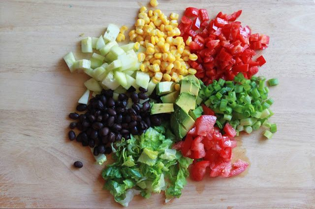 #vegan #raw #recipe Southwestern chopped salad with cilantro cream dressing