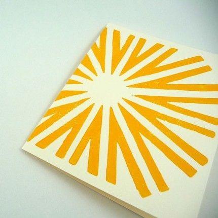 sun, sun card, paper