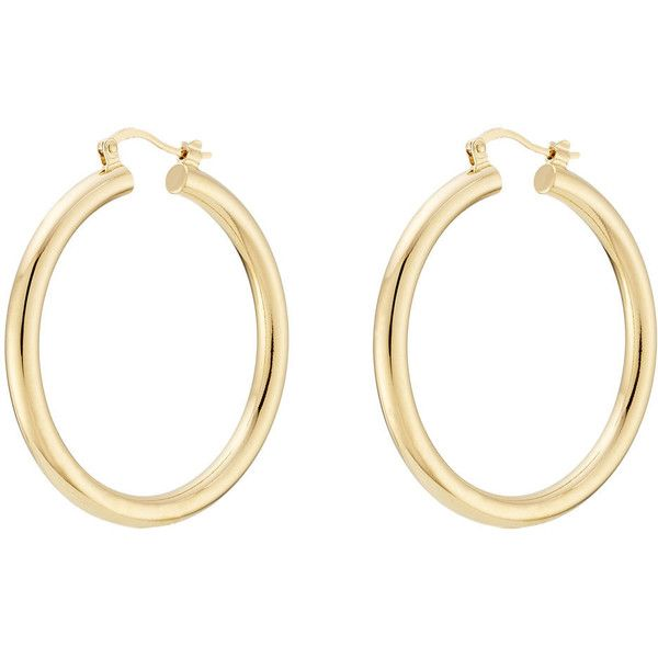 Isabel Marant Hoop Earrings (265 PLN) ❤ liked on Polyvore featuring jewelry, earrings, accessories, gold, gold jewellery, yellow gold jewelry, gold jewelry, earring jewelry and gold hoop earrings