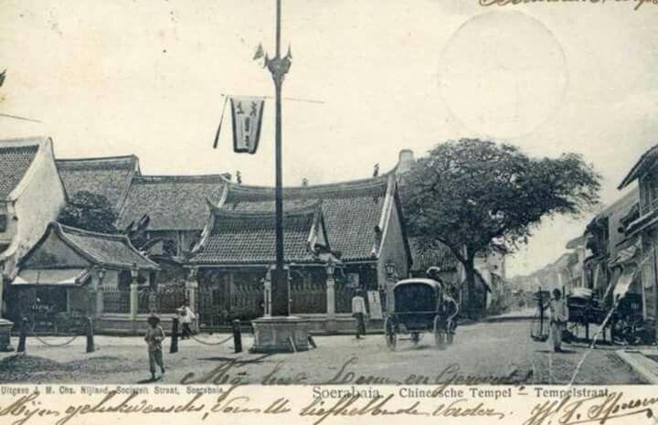 Chinese Temple, Tempelstraat (today Jl. Kepanjen), Surabaya, 1906 or earlier