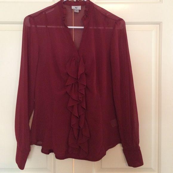 Dark Red Silk Blouse 79