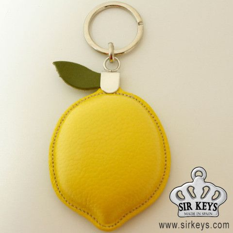 Lemon leather keychain / Keychains design and great quality SIRKEYS gifts