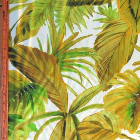 The Fabric Fairy Palm Paradise Nylon Spandex Swimsuit Fabric