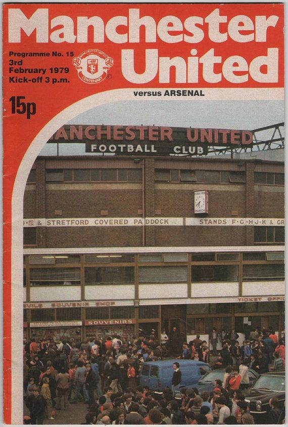 Vintage Football (soccer) Programme - Manchester United v Arsenal, 1978/79 season #football #soccer #manutd
