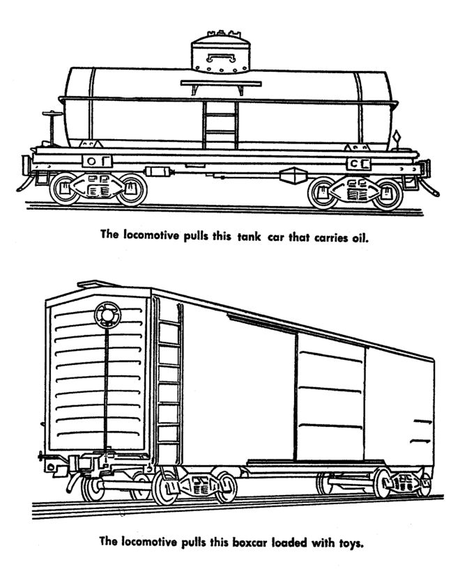43 best images about icolor little bigger boys colorbook for Train cars coloring pages