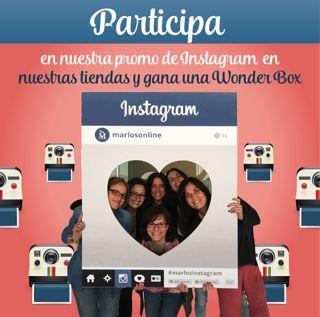 Ahora toca en nuestra tienda del Centro Comercial Gran Via 2! Visítanos a la tienda, hazte una foto con el Photo Booth y súbela a instagram nombrándonos (@marlosonline), con los hashtag #marlosinstagram y #GranVia2. ¡Podrás ser uno de los ganadores de una experiencia Wonder Box!