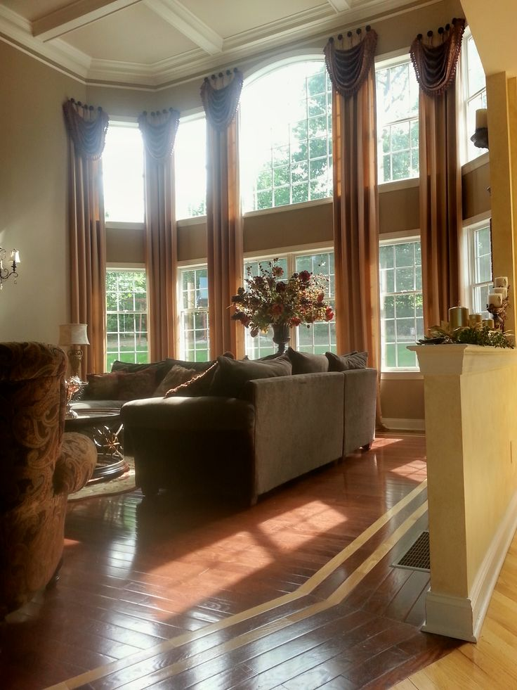 2 Story Interlined Drapery Panels Trimmed Swags On Select Medallion Tab  Posts · Living Room ... Part 91
