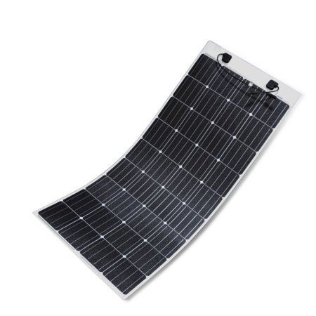 Renogy 160 Watt 12 Volt Extremely Flexible Monocrystalline Solar Panel Ultra Lightweight Ultra Thin Up To 248 Degree Arc For Rv Boats Roofs Uneven Surfac Solar Panels Monocrystalline Solar Panels Best Solar Panels