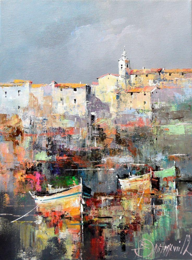 Branko Dimitrijevic, Croatian Coast, Oil on canvas, 40x30cm