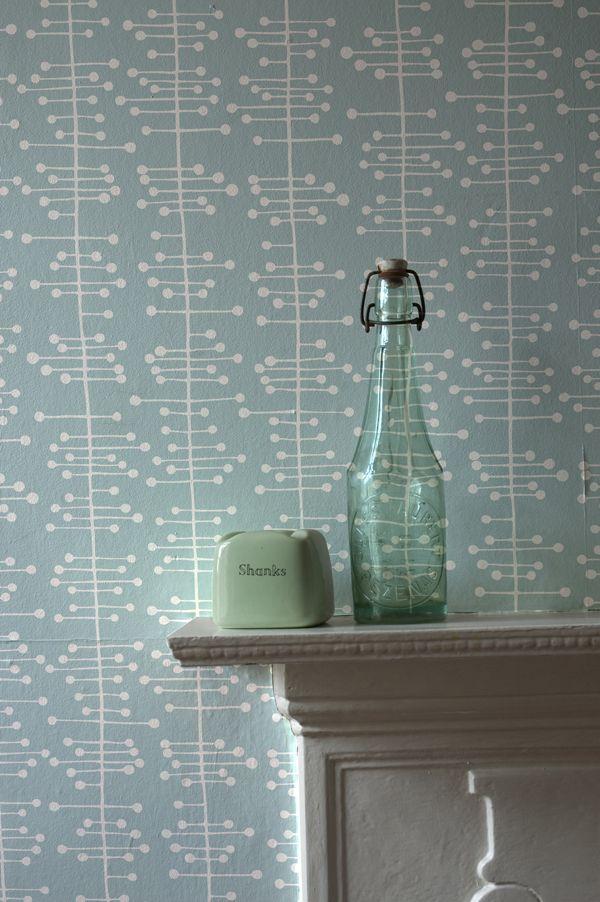 MissPrint's Muscat Small Duck-egg blue wallpaper