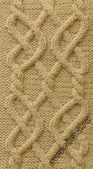 Узор 710 « коса 30 петель» | каталог вязаных спицами узоров