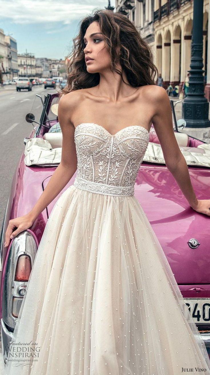 Julie Vino Herbst 2018 Brautkleider #weddingdress #straplessweddingdress
