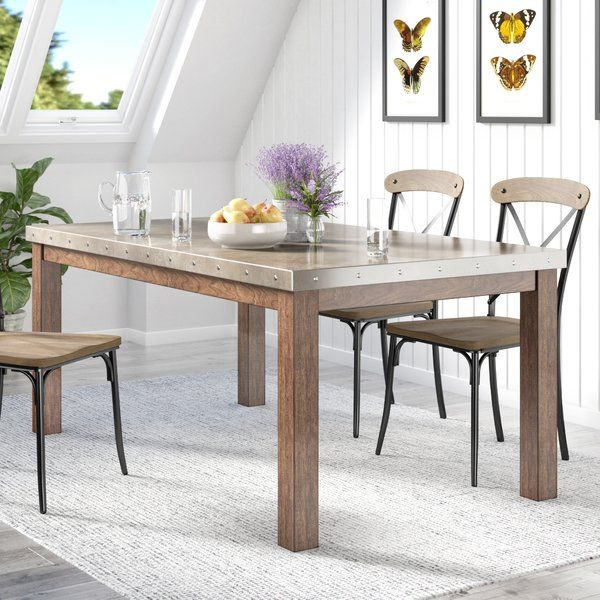 Stainless Steel Top Dining Table Dining Table Steel Dining