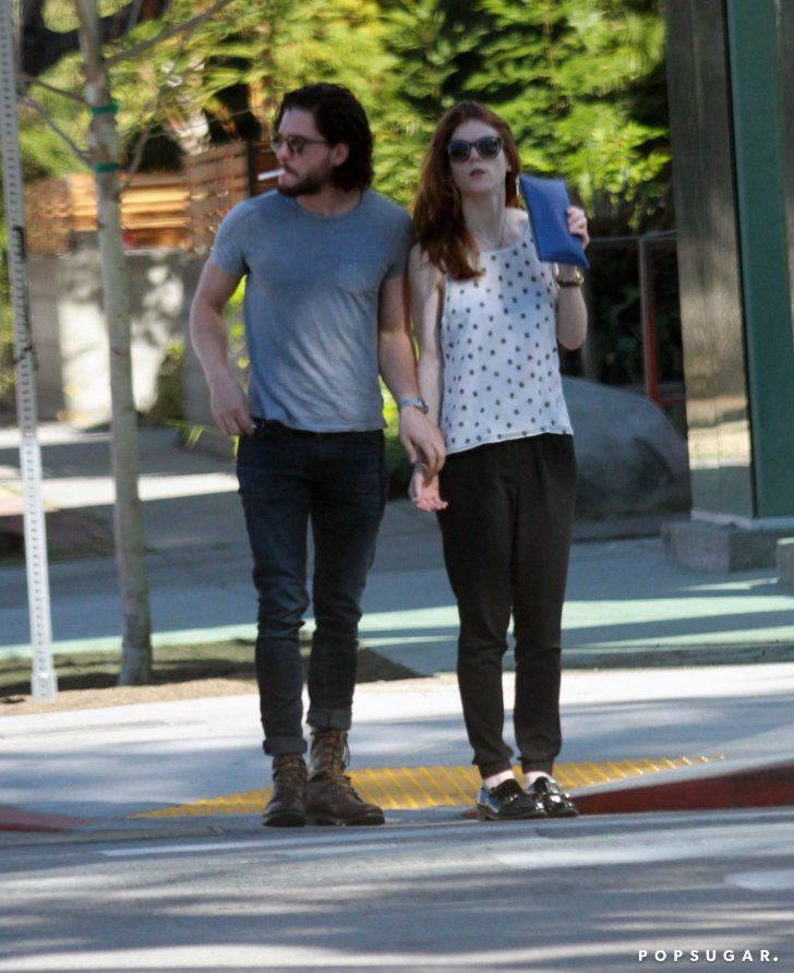 Pin for Later: Kit Harington and Rose Leslie Go on a Sweet Morning Stroll Through LA
