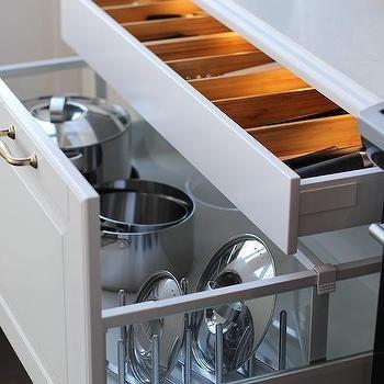 Lit Cutlery Drawer, Transitional, Kitchen