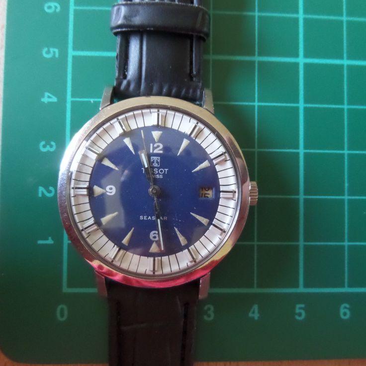 TISSOT SEASTAR - 1966 Vintage - Guaranteed Genuine, Swiss made Gents/Mens mehanical mechainsim wrist watch by EWcoLondon on Etsy
