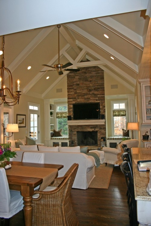 25 best ideas about tall ceilings on pinterest high for Family room addition pictures