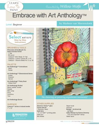 "Learn to paint this great mixed media project, ""Embrace"" at www.willowwolfe.ca"