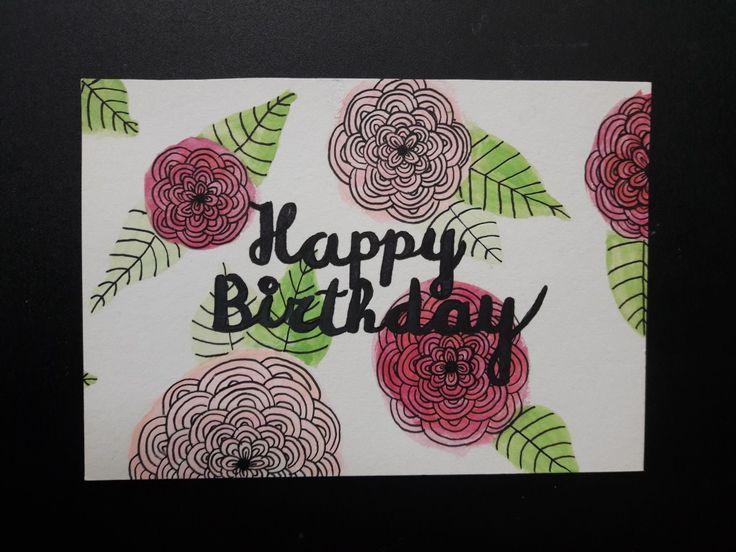 Birthday card handlettering