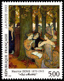Maurice Denis - «Les Muses» - Timbre de 1993