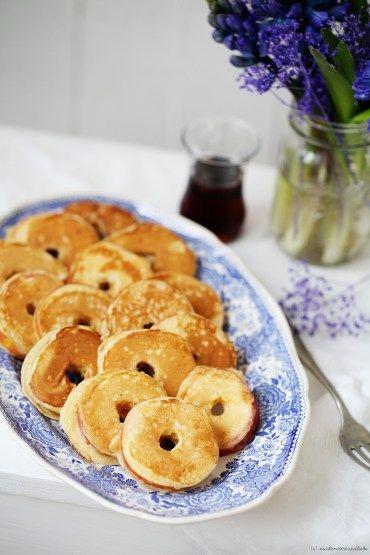 Zuckerzimtundliebe Apfelringe im Pfannkuchenteig Rezept Pancake Apple Rings Hyazinthe