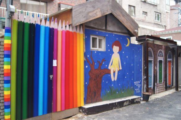 color pencil fence