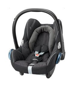 Maxi-Cosi Cabriofix Baby Car Seat- Black Crystal  Birth to approx 29lbs http://www.parentideal.co.uk/mothercare---car-seat.html