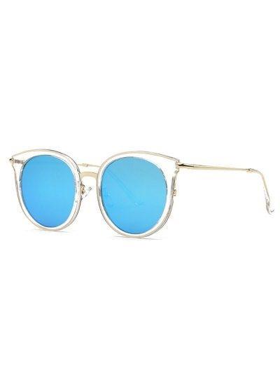 7bd146c028135 Stylish Transparent Cat Eye Mirrored Sunglasses  Fashion  Womens   Accessories  LightBlue