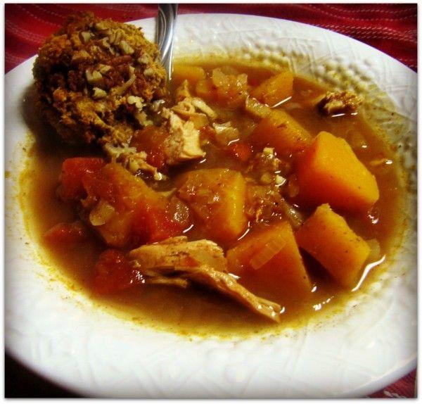 Butternut squash and chicken chili ~140kcals/ 275g