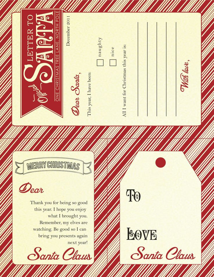 Best Santa Images On   Christmas Letters Dear Santa