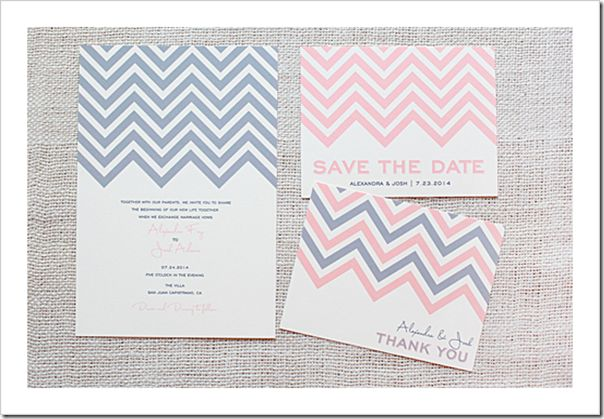 Free DIY Chevron invites