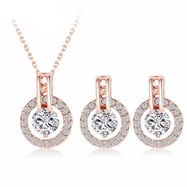 Rose Gold Bridal Jewelry Set
