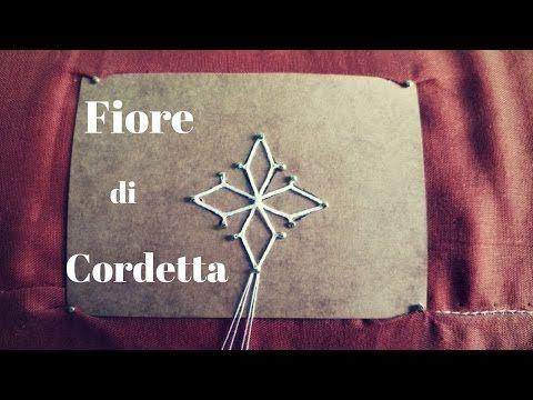 Merletto a tombolo - Fiore di Cordetta - YouTube