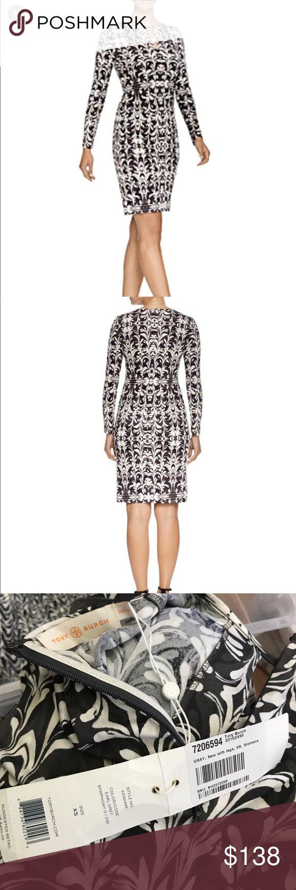 "NWT Tory Burch brushstroke print silk dress New with tag bust34-35""length 40 Tory Burch Dresses"