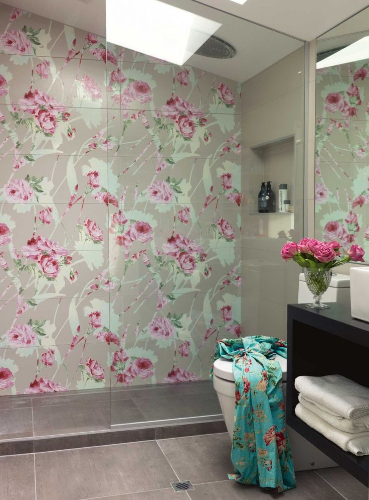 The floral Italian tiles are by FAP.