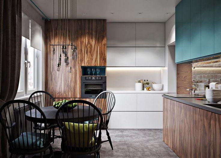 Legnagyobb szoba a gyerekeké - 80m2-es lakás szép színek és szürke árnyalatok modern és rusztikus elemek