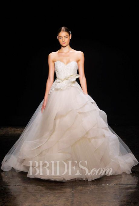 Lazaro Wedding Dresses Fall 2014 Bridal Runway Shows | Wedding Dresses Style | Brides.com