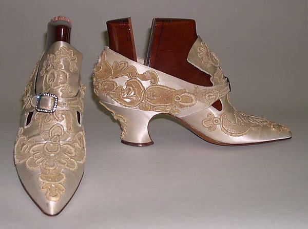 Shoes Designer: Pietro Yantorny  Date: 1911–15 Culture: French Medium: silk, wood Accession Number: C.I.40.130.12a–h