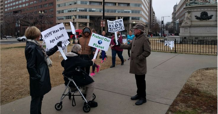 The National Women's March has a senior citizen's auxiliary.Too old to march, too mad to be silent