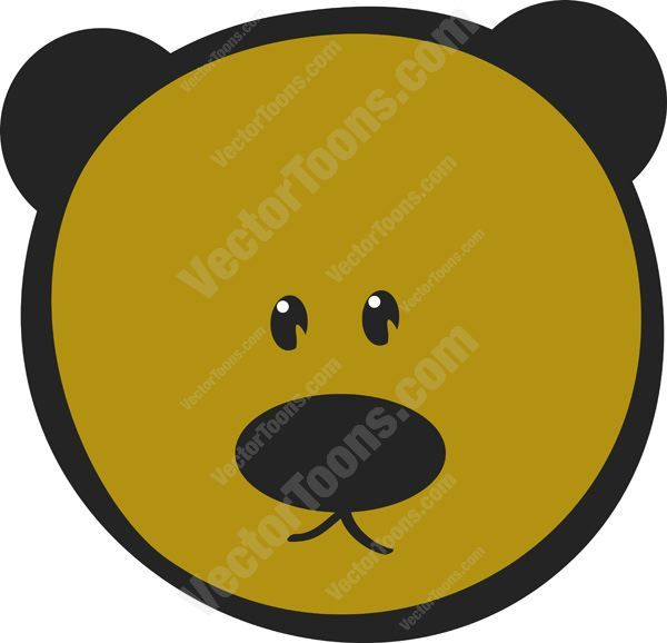 Cute Brown Teddy Bear Emoticon Looking Straight Ahead #adorable #animal #bear #cuddly #cute #doll #emotion #expression #face #feeling #mood #PDF #smiley #teddy #toy #vector-graphics #vectors #vectortoons #vectortoons.com