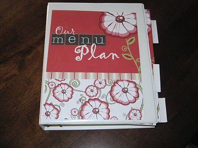 Menu Plan Binder: Meal Planning, Menu Planners, Menu Plans, Endless Crafts, Recipes Binder, Planners Ideas, Meals Planners, Meals Plans, Menu Planning
