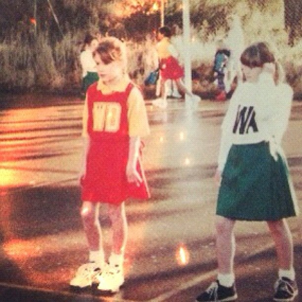 Old school picture of my first netball days. So little!