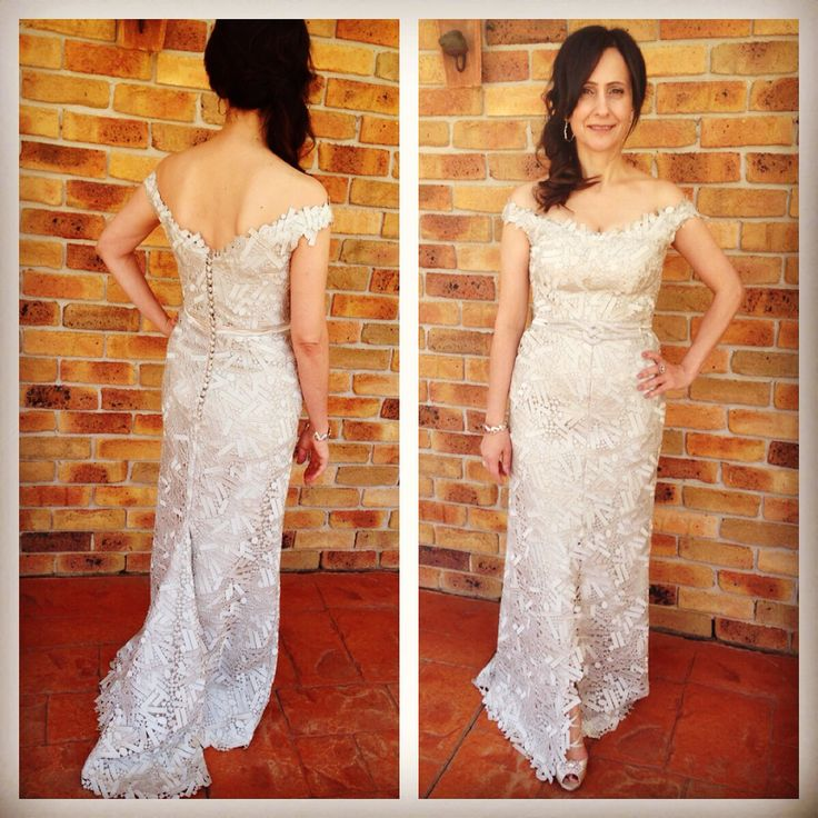 Timeless mother of the bride. Guipure lace. Custom couture at Souraya