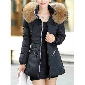 Mulheres parka mais casuais casaco tamanho engrossar gola de pele de guaxinim longo casaco