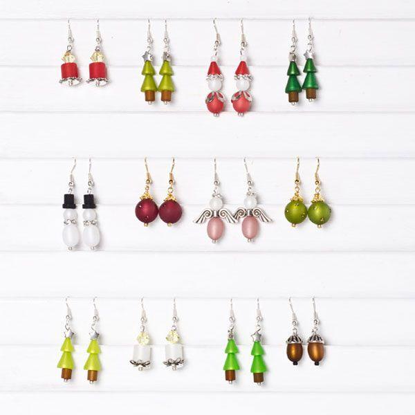 Engelsohrringe und andere süße Ohrringe. Ein schönes selbstgemachtes Weihnachtsgeschnek mit Polarisperlen und Swarovski Elements.