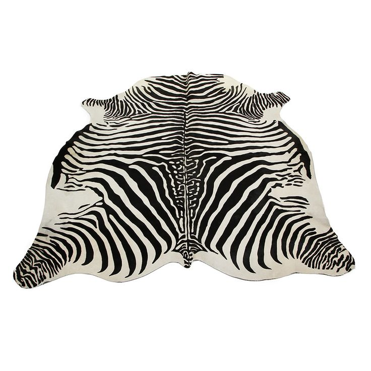 Discover The Amara Zebra Printed Cow Skin Rug Black White At