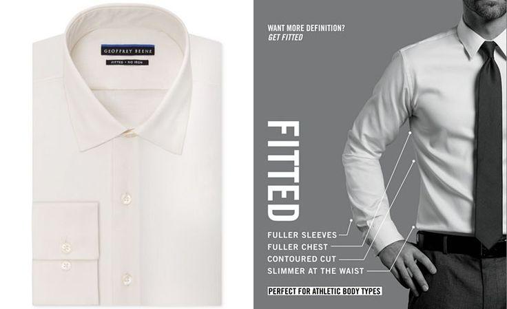Geoffrey Beene Men's Fitted No-Iron Stretch Sateen Dress Shirt - Dress Shirts - Men - Macy's