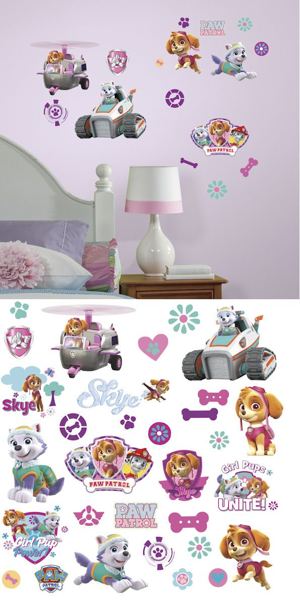Paw Patrol Girl Pups Peel and Stick Wall Decals - Wall Sticker Outlet
