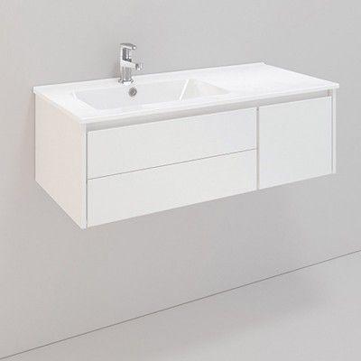 Möbelpaket Noro Lifestyle B90/H30cm Tvättställ Standard Vänster 3 Lådor